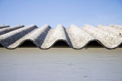 Asbestos roof Royalty Free Stock Image