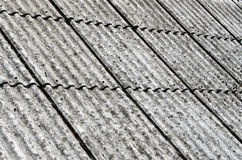 Asbestos roof Stock Photo