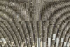 Asbestos roof. Tiles Royalty Free Stock Image