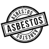 Asbestos rubber stamp Stock Image