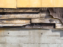 Asbestos siding falling apart due to age Royalty Free Stock Images