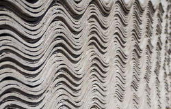 Asbestos slate roofing sheets. Pack sheets of asbestos slate. Building material for roofing Royalty Free Stock Images