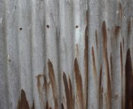 Asbestos wall. slate wall of gray and white with green leaves. Brown stains on slate stock photos
