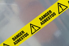 Asbestos Warning Sign Stock Image