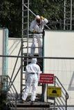 Asbestsanierung stockfotografie