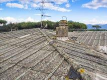 Asbesttak Fotografering för Bildbyråer