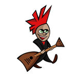 Asbild eines kleinen Rockers mit Gitarre stock abbildung