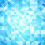 Asbtraktnyj geometric background in blue. Light in the depths of the ocean. Optical effects. Triangles and squares in the ranks Stock Photos