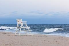 Asbury公园新泽西救生员椅子 库存图片