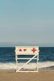 Asbury公园新泽西救生员椅子 免版税库存照片