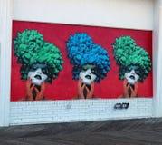 Asbury公园木板走道壁画 免版税库存照片