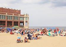 Asbury公园海滩 免版税库存照片