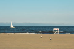 Asbury Park Beach During Sunset Royalty Free Stock Photo
