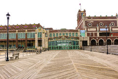Asbury Park Convention Center. The scenic Wesley Lake in Asbury Park Stock Image