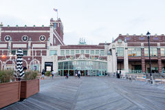 Asbury Park Convention Hall and Boardwalk Stock Photo