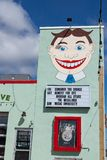 Asbury Park Wonder Bar Details. ASBURY PARK, NEW JERSEY - March, 19, 2017: A view of the exterior of the famous Wonder Bar Stock Image