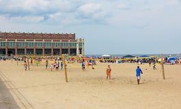 Asbury parkerar stranden Fotografering för Bildbyråer