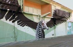 Asbury parkerar strandpromenadväggmålningen för ` s arkivbilder