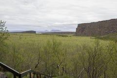 Asbyrgi kanjon Royaltyfria Foton