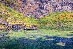 Asbyrgi lake Stock Image