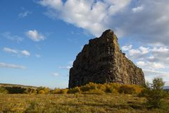 Asbyrgi landmark. This is the famous landmark rock formation in the center of the Asbyrgi national park in northern Iceland Royalty Free Stock Photos
