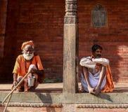 Ascétique dans le pashupatinath à Katmandou, Népal images stock