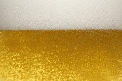 Ascendente cercano de la cerveza Imágenes de archivo libres de regalías