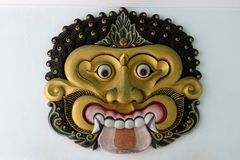 Ascendente cercano de la máscara, Yogyakarta Imagen de archivo