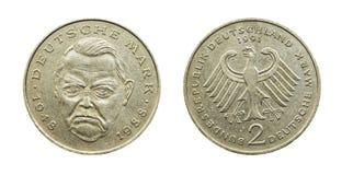 Ascendente cercano de la moneda Fotos de archivo libres de regalías