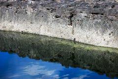 Ascendente cercano de la orilla del mar Fotografía de archivo