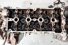 Ascendente cercano del árbol de levas, válvula dos por sistema del cilindro Imagen de archivo