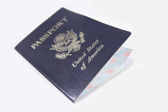 Ascendente cercano del pasaporte Fotografía de archivo libre de regalías