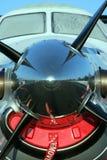 Ascendente cercano del propulsor fotografía de archivo