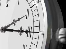 Ascendente cercano del reloj Ilustración del Vector