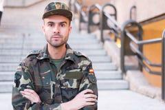 Ascendente cercano del soldado Fotos de archivo libres de regalías