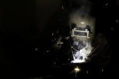 Ascendente cercano del soldador Foto de archivo