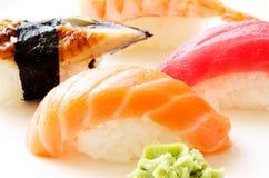 Ascendente cercano del sushi Fotografía de archivo