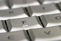Ascendente cercano del teclado Imagen de archivo libre de regalías
