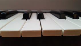 Ascendente cercano del teclado Fotografía de archivo