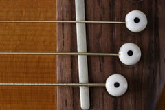 Ascendente próximo da guitarra Fotografia de Stock Royalty Free
