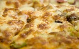 Ascendente próximo da pizza Foto de Stock