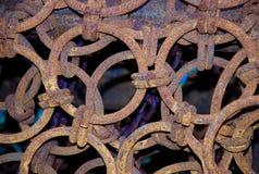 Ascendente próximo da rede de pesca do metal Imagens de Stock Royalty Free