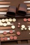 Ascendente próximo do Backgammon Fotografia de Stock