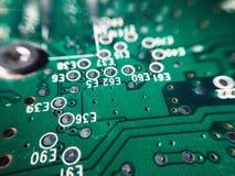 Ascendente próximo do chip de computador Fotos de Stock