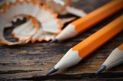 Ascendente próximo do lápis Foto de Stock