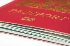 Ascendente próximo do passaporte Imagem de Stock