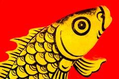 Ascendente próximo do peixe dourado Fotos de Stock Royalty Free