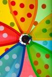 Ascendente próximo do Pinwheel Fotografia de Stock Royalty Free