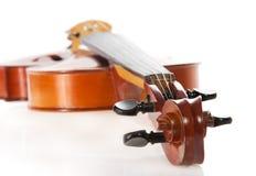 Ascendente próximo do violino fotografia de stock