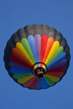 Ascending. Circular hot air balloon ascending Stock Photography